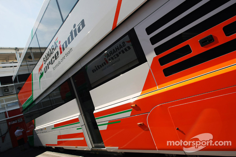 Sahara Force India F1 Team transporter