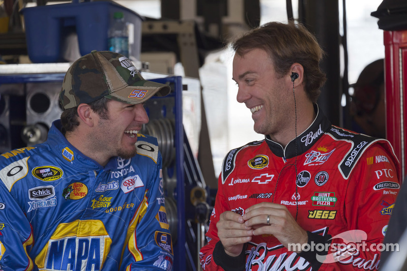 Martin Truex Jr., Michael Waltrip Racing Toyota and Kevin Harvick, Richard Childress Racing Chevrolet
