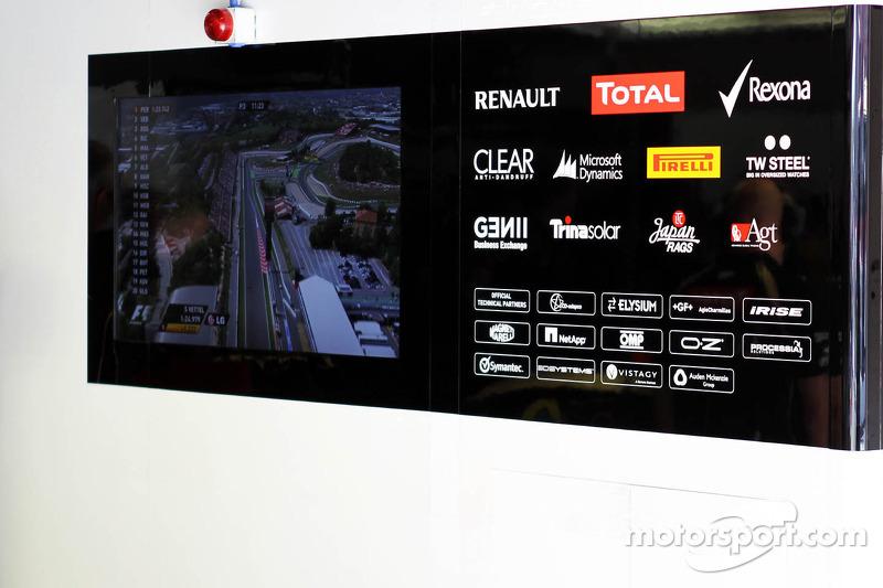 Lotus F1 Team garage