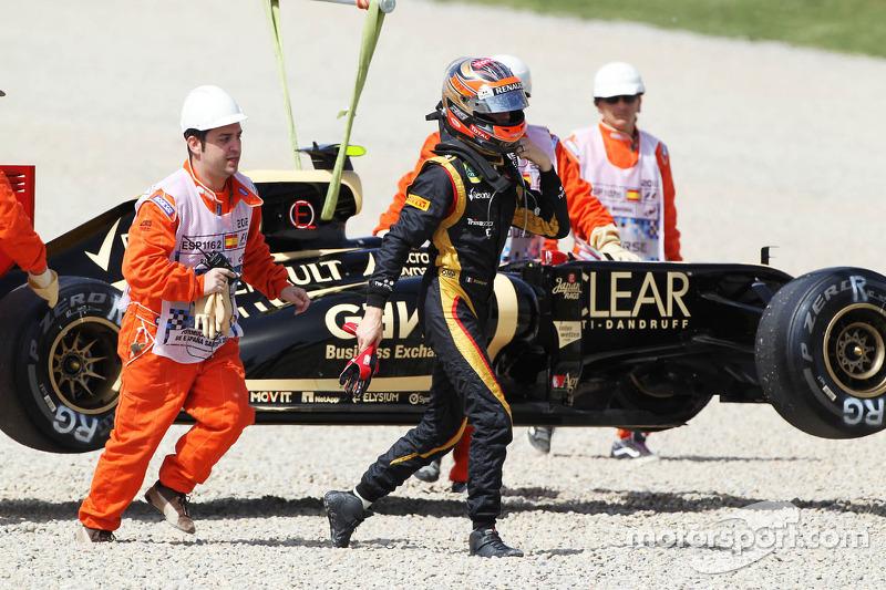 Romain Grosjean, Lotus F1 stopt op circuit
