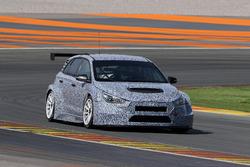 Tests à Valencia de la Hyundai i30 TCR