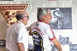 Marco Lucchinelli ve Carmelo Ezpeleta, CEO of Dorna Sports