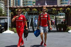 Sebastian Vettel, Ferrari, su entrenador Antti Kontsas