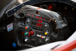 Steering wheel of Will Power, Verizon Team Penske Chevrolet