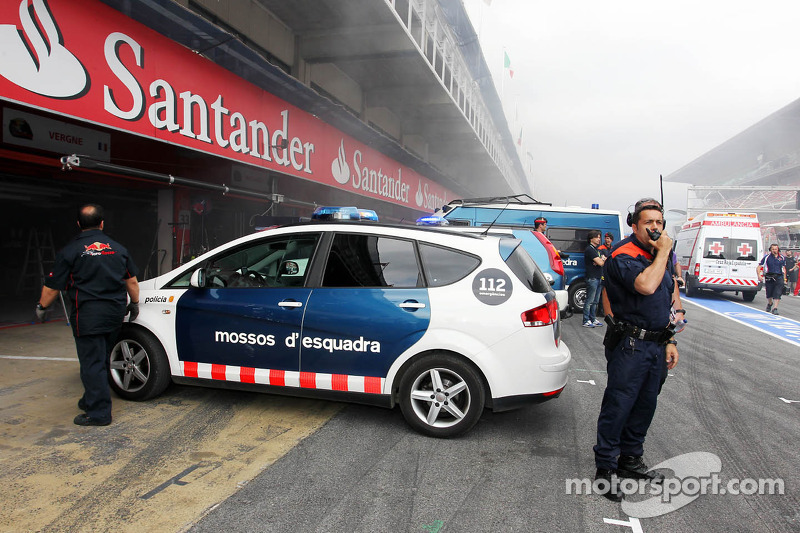 Brand in de Williams F1 Team pits