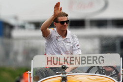 Nico Hulkenberg, Sahara Force India F1 on the drivers parade