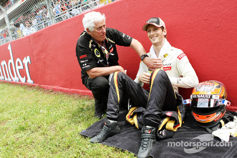 Romain Grosjean, Lotus F1 Team op de grid