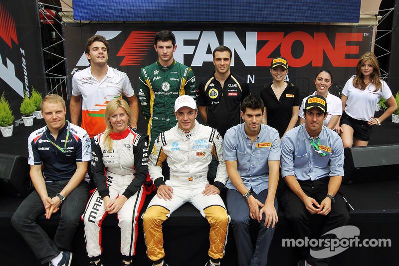 Formel-1-Piloten an der Fanzone