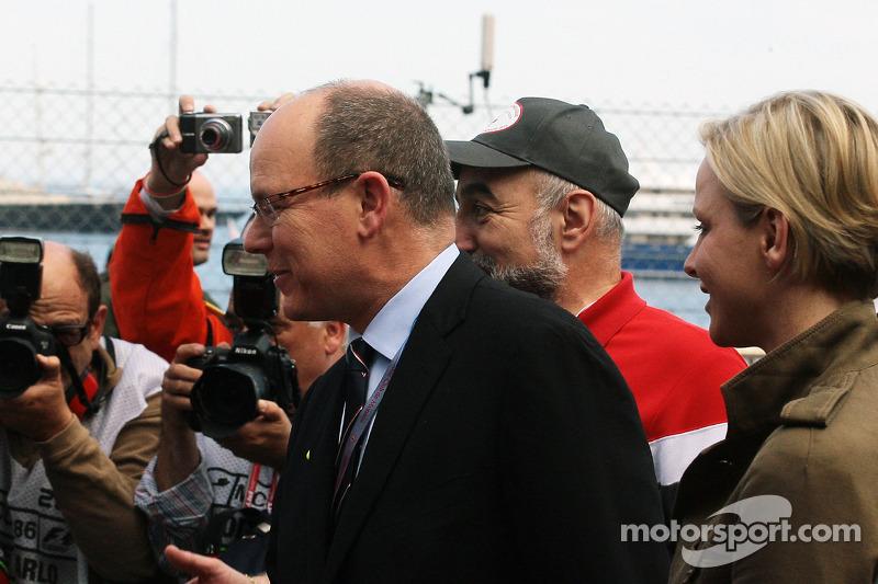 HSH Prins Albert van Monaco, met Prinses Charlene van Monaco