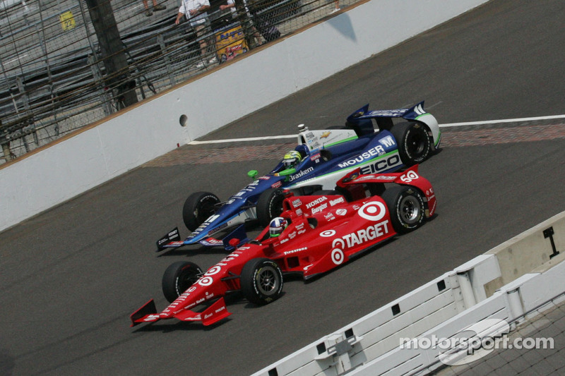 Dario Franchitti, Target Chip Ganassi Honda, Tony Kanaan, KV Racing Technology Chevrolet