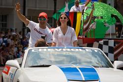 Indy 500 festival parade: Tony Kanaan, KV Racing Technology Chevrolet