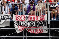 Banner for Felipe Massa, Ferrari and Rob Smedley, Ferrari Race Engineer