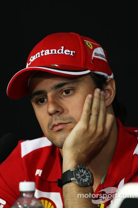 Felipe Massa, Scuderia Ferrari in de FIA persconferentie