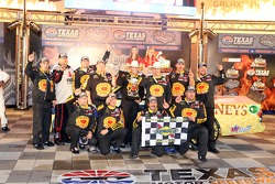 Victory lane: race winner Johnny Sauter