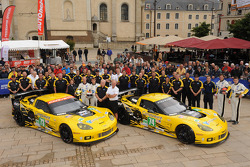 #73 Corvette Racing Chevrolet Corvette C6 ZR1: Jan Magnussen, Antonio Garcia, Jordan Taylor, #74 Corvette Racing Chevrolet Corvette C6 ZR1: Oliver Gavin, Tom Milner, Richard Westbrook