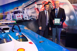 ACO press conference: ACO President Pierre Fillon with 2012 Spirit of Le Mans Award winner Gérard Larrousse