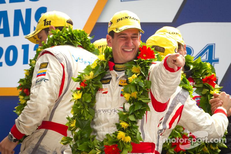 LMP2 podium: winnaar in klasse Enzo Potolicchio