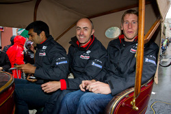 Karun Chandhok, David Brabham and Peter Dumbreck