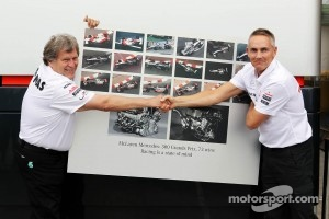 The good old days in 2012: Norbert Haug and Martin Whitmarsh before the Mercedes power changes of 2013