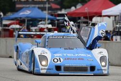 #01 Chip Ganassi Racing with Felix Sabates BMW Riley: Scott Pruett, Memo Rojas celebrates the win