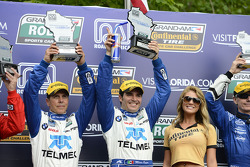 Victory lane: Scott Pruett and Memo Rojas celebrate