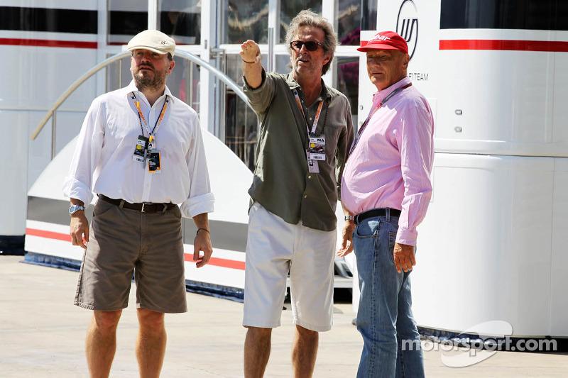 Eric Clapton, rocklegende met Niki Lauda
