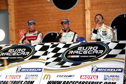 Post race press conference: winner Eric Helary, second place Ander Vilarino, third place Yvan Muller