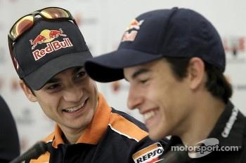 Dani Pedrosa and Marc Marquez