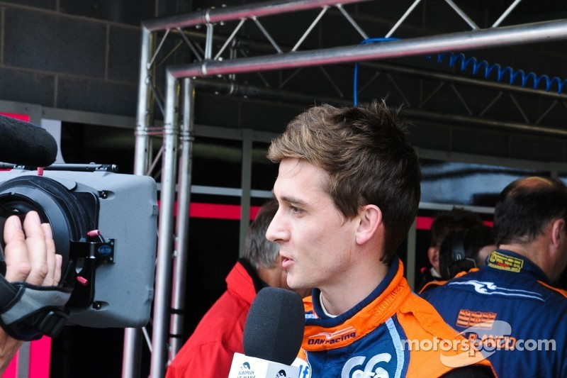 Polesitter Matthieu Lahaye interviewed for tv