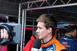 Polesitter Matthieu Lahaye interviewed for tv