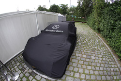 The Car of David Coulthard, Mücke Motorsport, AMG Mercedes C-Coupe sits in the paddock