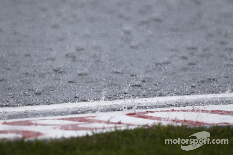 Regen op het circuit
