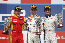 Podium: race winner Johnny Cecotto, second place Fabio Leimer, third place Stephane Richelmi