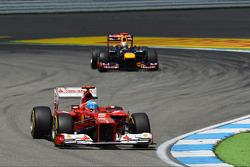 Fernando Alonso, Ferrari y Sebastian Vettel, Red Bull Racing