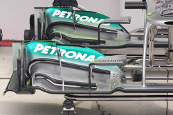 Mercedes AMG F1 W03 front wing detail