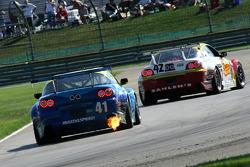 #41 Dempsey Racing Mazada RX-8: Charles Putman, Charles Espenlaub, Tom Long and #42 Team SahlenMazda RX-8: Dane Cameron, Joe Nonnamaker, Will Nonnamaker