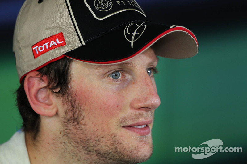 Romain Grosjean, Lotus F1 Team in de FIA persconferentie