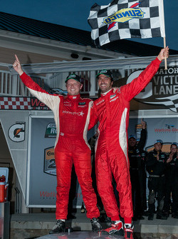 Race winners Ryan Dalziel and Lucas Luhr