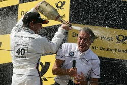 Podium, Bruno Spengler, BMW Team Schnitzer BMW M3 DTM and Charly Lamm, Teammanager BMW Team Schnitzer