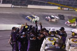 The Joe Gibbs Racing crew celebrates