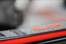 Rain drops on the McLaren nosecone of Jenson Button, McLaren