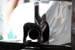 Rear exhaust detail on the Mercedes AMG F1 of Nico Rosberg, Mercedes AMG F1