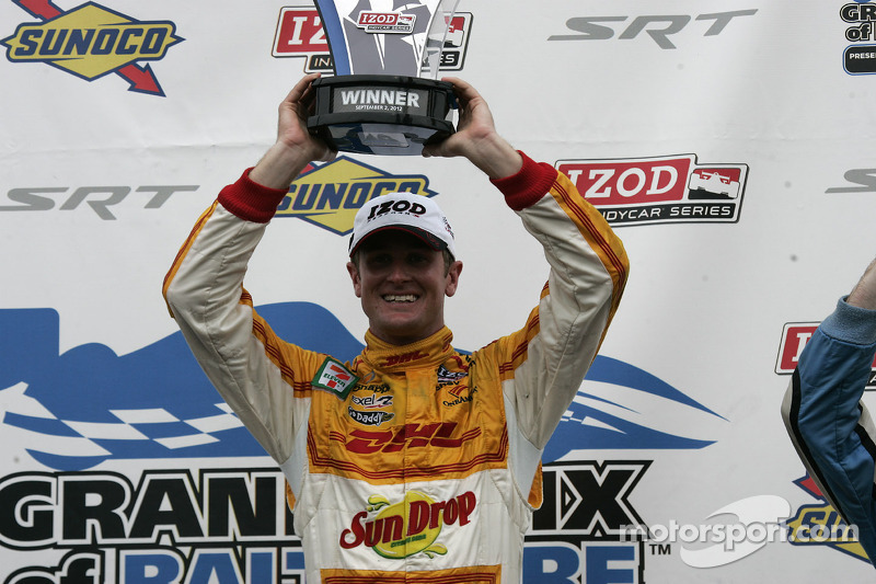 Race winner Ryan Hunter-Reay
