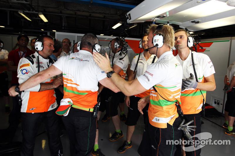 Sahara Force India F1 Team viert vierde plaats in kwalificaties voor Paul di Resta, Sahara Force India F1 voor zijn grid penalty