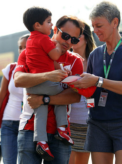 Felipe Massa, Ferrari with his son Felipinho