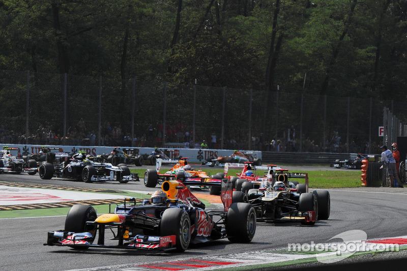 Sebastian Vettel, Red Bull Racing, start van de race