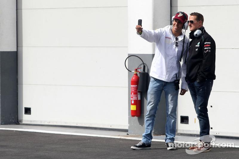Rodolfo Gonzalez, Sahara Force India Formula One Team en Michael Schumacher, Mercedes GP