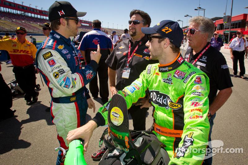 Ryan Hunter-Reay, Andretti Autosport Chevrolet en James Hinchcliffe, Andretti Autosport Chevrolet me