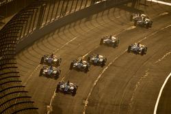 Start: Marco Andretti, Andretti Autosport Chevrolet leads the field
