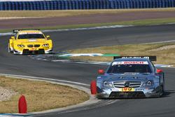 Ralf Schumacher, Team HWA AMG Mercedes, AMG Mercedes C-Coupe leads Dirk Werner, BMW Team Schnitzer BMW M3 DTM